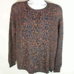 Faded Glory Multi-Colored Cable-Knit Crew-neck